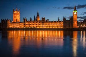 The Palace of Westminster and the River Thames