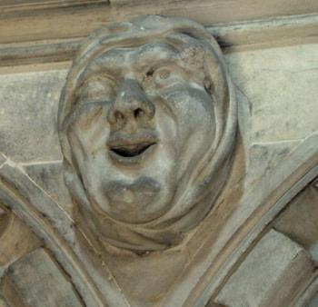 Carved Head Temple Church London