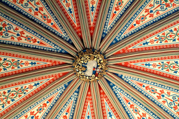 York Minster Photo Chapter House Painted Ceiling Boss
