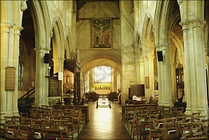 The nave, Burford church