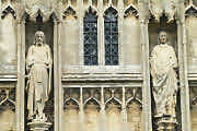Carvings above the south porch, St John the Baptist,Burford