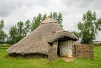 A reconstruction of an Iron Age hut