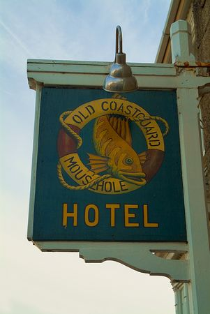 Mousehole Hotel sign