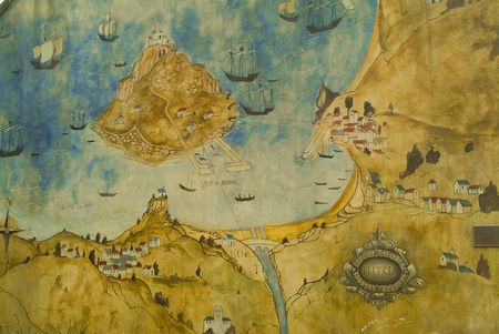 St Michael S Mount Photo Image Of A Map Mural
