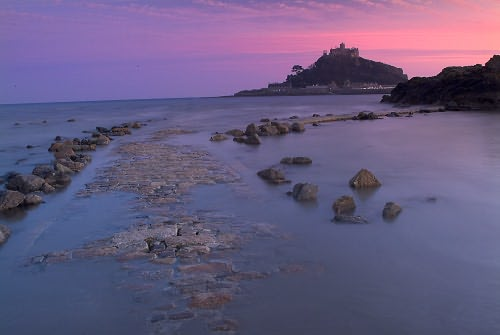 Photo Of Sunset Over St Michael S Mount Cornwall