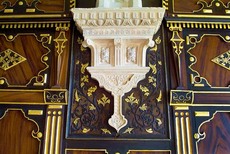 Bolsover Castle - gilded panelling photo