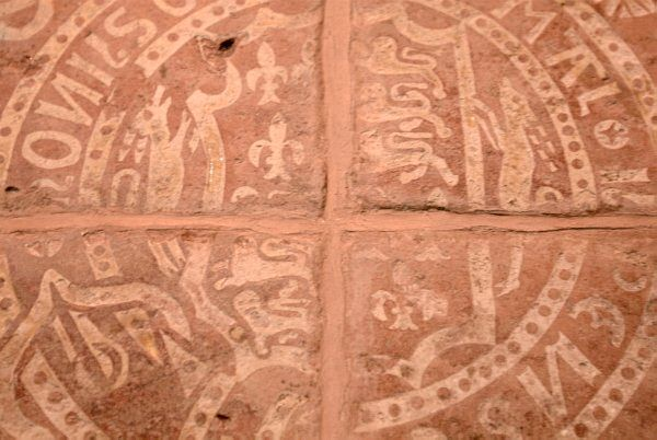 Photo of medieval floor tile at St Mary\'s Church, Berkeley ...