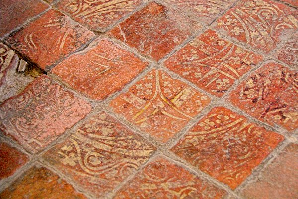 The Floor Of South Aisle Is Set With Some Meval Encaustic Tiles Which Probably