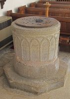 early Norman tub font