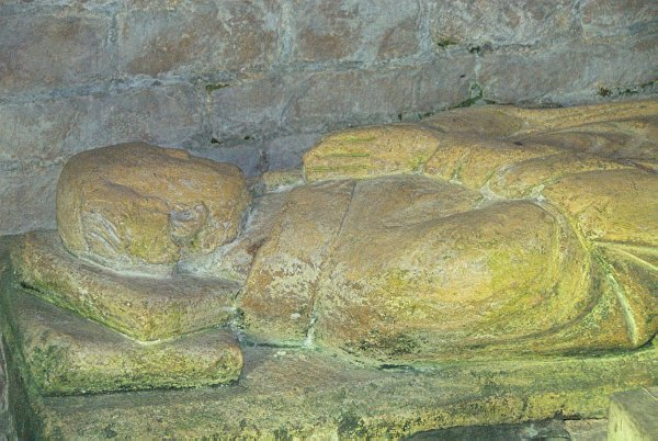 A 16th century effigy lies in the sanctuary