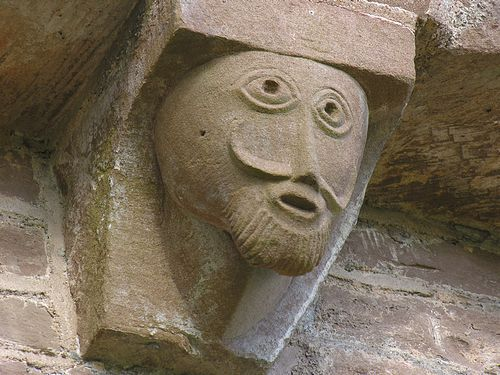 Carved figure, Kilpeck church