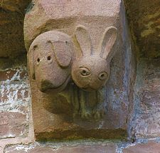 Kilpeck Church carved figure