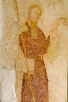 Wall painting of St James, patron saint of pilgrims