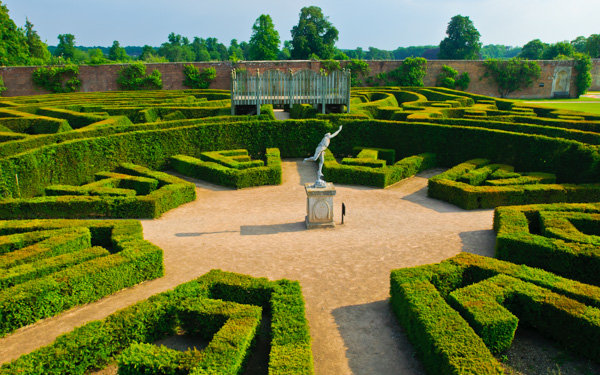 This Hedge Maze In The Pleasure Garden Area Of Blenheim Is Sculpted To Form  A Scene
