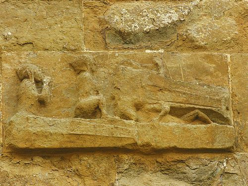 Photos of bloxham church last judgement relief carving