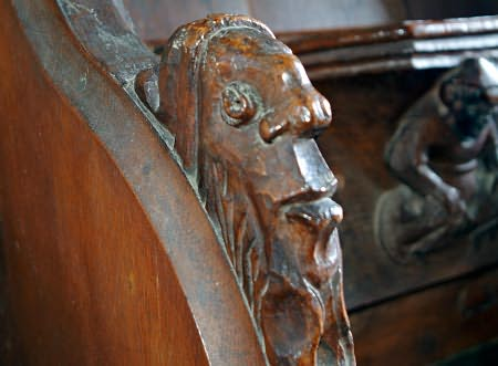 Swinbrook, misericord carving