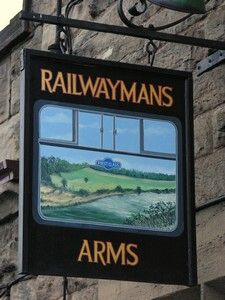 railway pub sign
