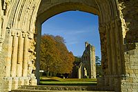 Glastonbury Abbey, where King Arthur is said to lie buried