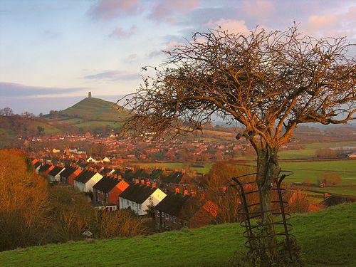 Photo Of Glastonbury Tor And Wearyall Hill Glastonbury