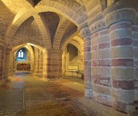 12th century Norman crypt of St Mary church