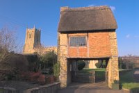 lych gate and church, Long Compton