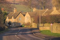 Cotswold stone cottages, Long Compton