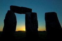 Stonehenge at Sunset, near Amesbury, Wiltshire