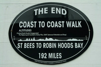 Coast to Coast walk plaque