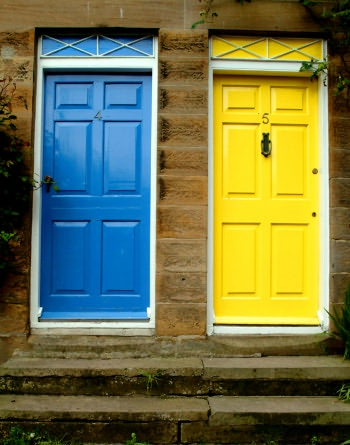 Colourful doors, Robin Hoods Bay