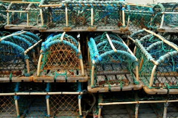 lobster pots, Robin Hoods Bay