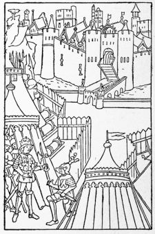 The siege of Rouen by Henry V
