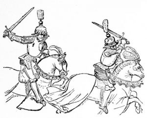 The Duke of Gloucester and the Earl of Warwick in battle