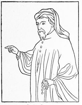 Geoffrey Chaucer, from a contemporary MS. in the British Museum