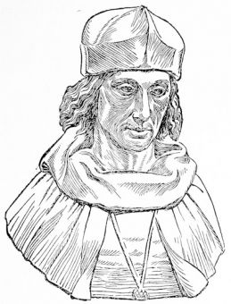 Henry VII, from a contemporary bust by an Italian artist