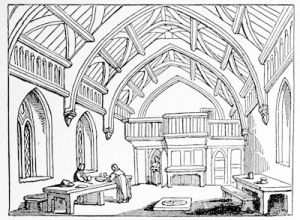 Hundred Men\'s Hall at St Cross, near Winchester, an early 16th century hall