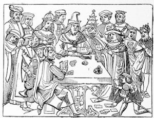 The political Game of Cards, a contemporary French satire on the European situation about 1500