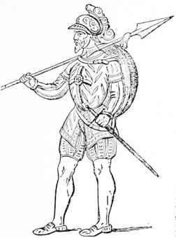 A pikeman, from an early 16th century MS.
