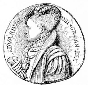 A portrait medal of Edward VI, 1547, in the British Museum