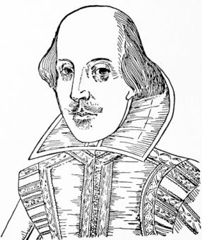 Shakespeare, the Droeshout portrait