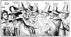 The Gunpowder Plot; the Conspirators, from a contemporary print now in the National Portrait Gallery