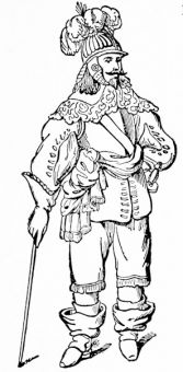 A cavalier of 1620, from Skelton\'s \'Armour\'
