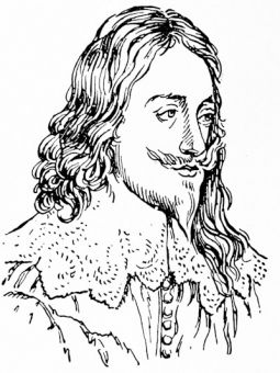 Charles I, from a miniature drawing by Matthew Snelling, 1647