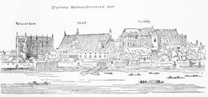 Westminster in the time of Charles I, from a print by Hollar