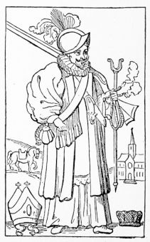 The Church Militant; a Bishop of 1642, from a contemporary caricature