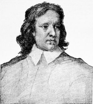 Oliver Cromwell, from a miniature by Samuel Cooper