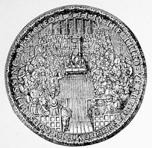 The Great Seal of the Commonwealth, 1651 - obverse view