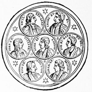 The Seven Bishops, from a medal contemporary with the trial