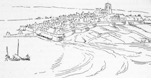 Londonderry about 1680, from a contemporary drawing in the British Museum