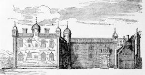 The Parliament House, Edinburgh, in the 17th century, from an engraving by Gordon of Rothiemay about 1650