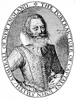 John Smith at 37, from his \'General History of Virginia\', 1624
